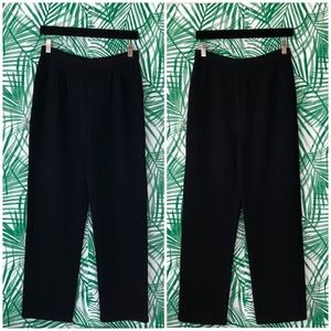 St. John Collection Black Santana Knit Pants
